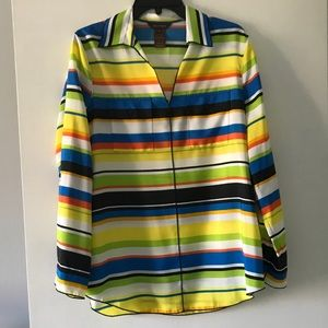 NWT: Multiples Multicolored Long Sleeve Buttondown